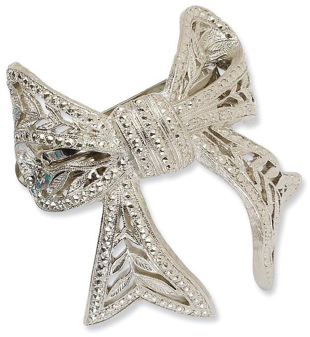 1928 Jewelry - Silver-tone Bow Ponytail Holder