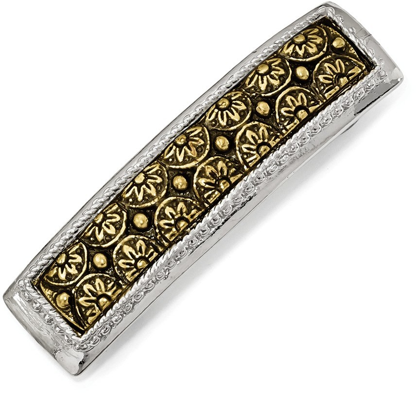 1928 Jewelry - Silver-tone & Brass-tone Hair Barrette