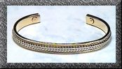 Silver Classic Bangle - Magnetic Therapy Bracelet