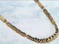 Golden Patterns - Magnetic Necklace