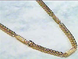 Golden Chains - Gold Plated Magnetic Therapy Necklace (N-700)