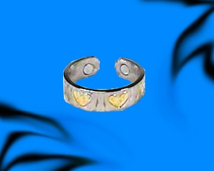Hearts - Magnetic Therapy Ring (R20)