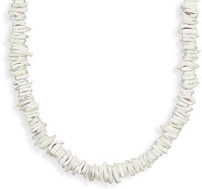White Rose Chip Shell Fashion Necklace