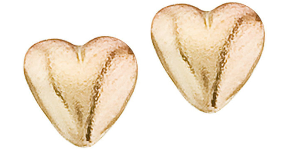 14K Yellow Gold Baby Heart Screwback Earrings (CM-E1235)