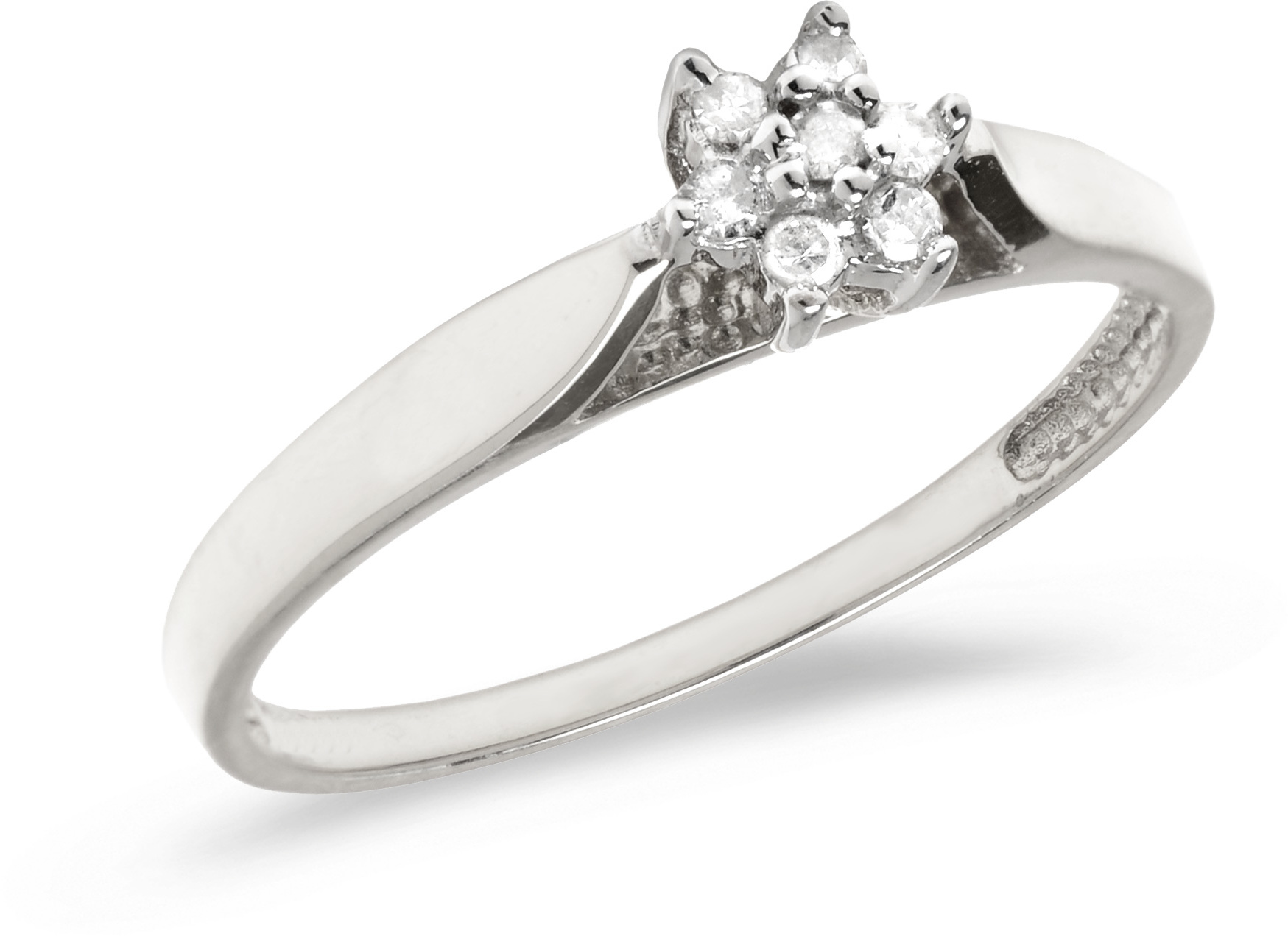 10K White Gold Diamond Cluster Ring (CM-LRD730W)