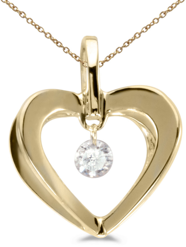 14K Yellow Gold Diamond Dashing Diamonds Pendant (Chain NOT included) (CM-P8268)