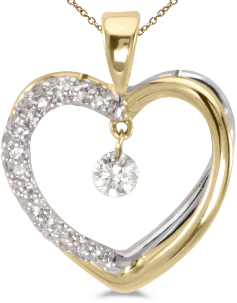 14K Yellow Gold Diamond Dashing Diamonds Pendant (Chain NOT included) (CM-P8351TT)
