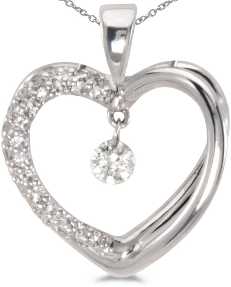 14K White Gold Diamond Dashing Diamonds Pendant (Chain NOT included) (CM-P8351W)