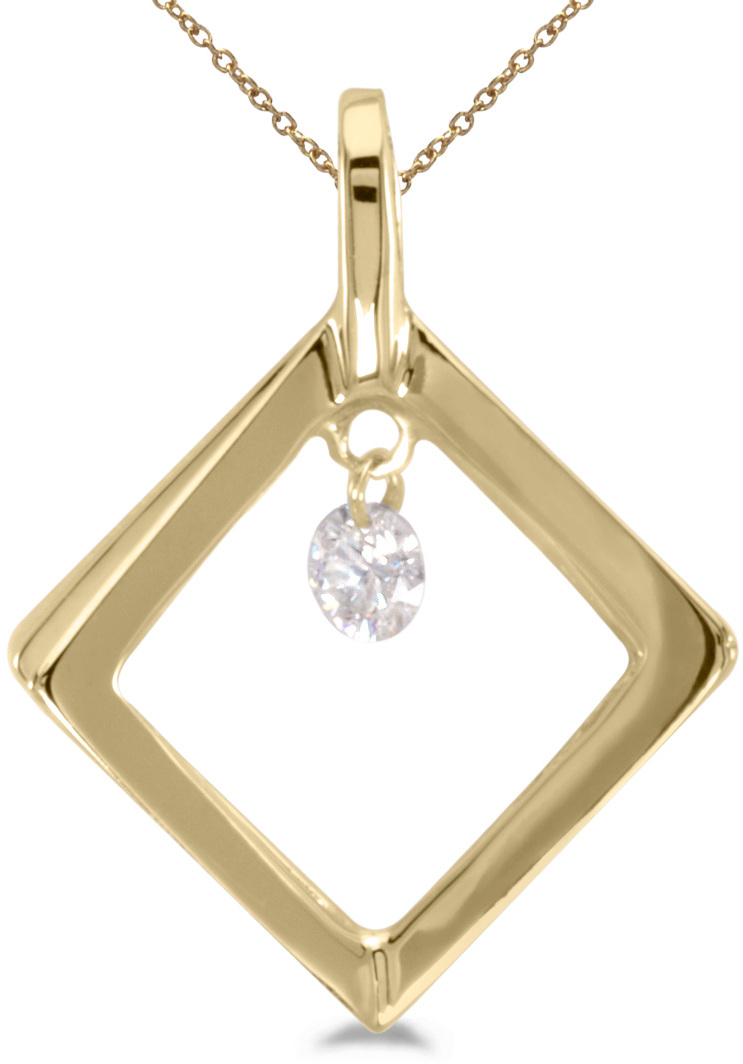 14K Yellow Gold Diamond Dashing Diamonds Pendant (Chain NOT included) (CM-P8388)