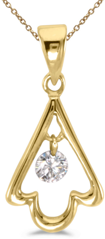 14K Yellow Gold Diamond Dashing Diamonds Pendant (Chain NOT included) (CM-P8597)