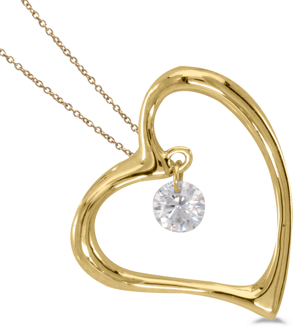 14K Yellow Gold Diamond Dashing Diamonds Pendant (Chain NOT included) (CM-P8825)