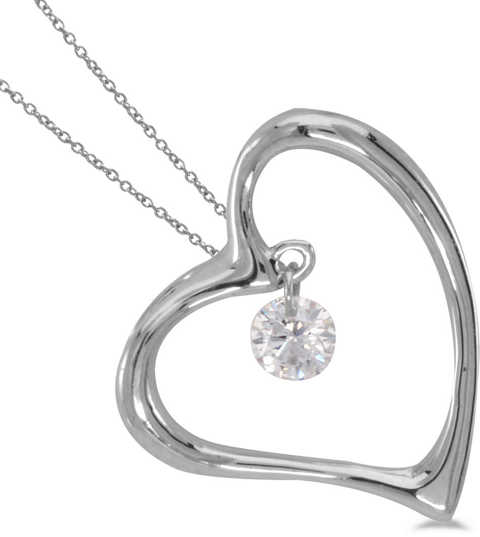 14K White Gold Diamond Dashing Diamonds Pendant (Chain NOT included) (CM-P8825W)