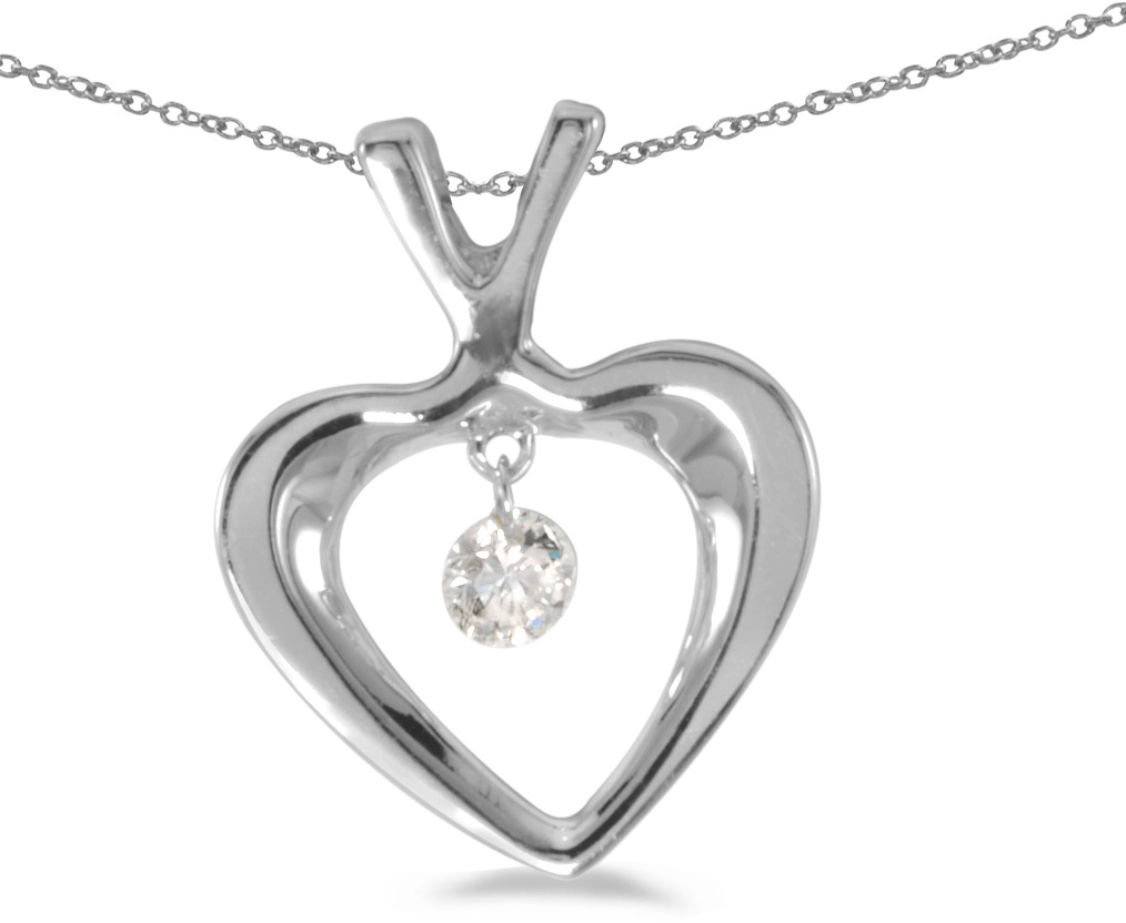 14K White Gold Diamond Dashing Diamonds Pendant (Chain NOT included) (CM-P8826W)