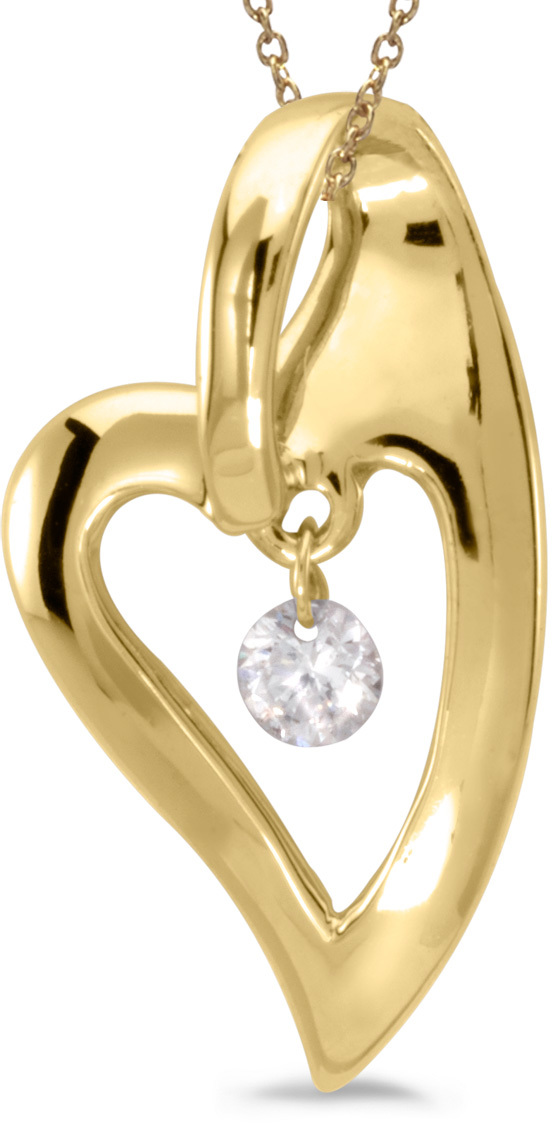 14K Yellow Gold Diamond Dashing Diamonds Pendant (Chain NOT included) (CM-P8831)