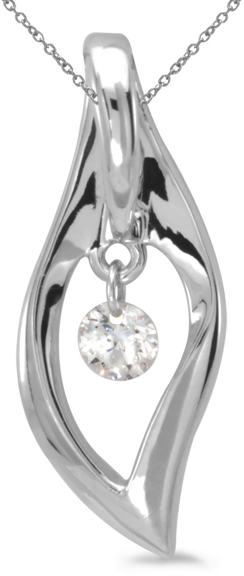14K White Gold Diamond Dashing Diamonds Pendant (Chain NOT included) (CM-P8832W)