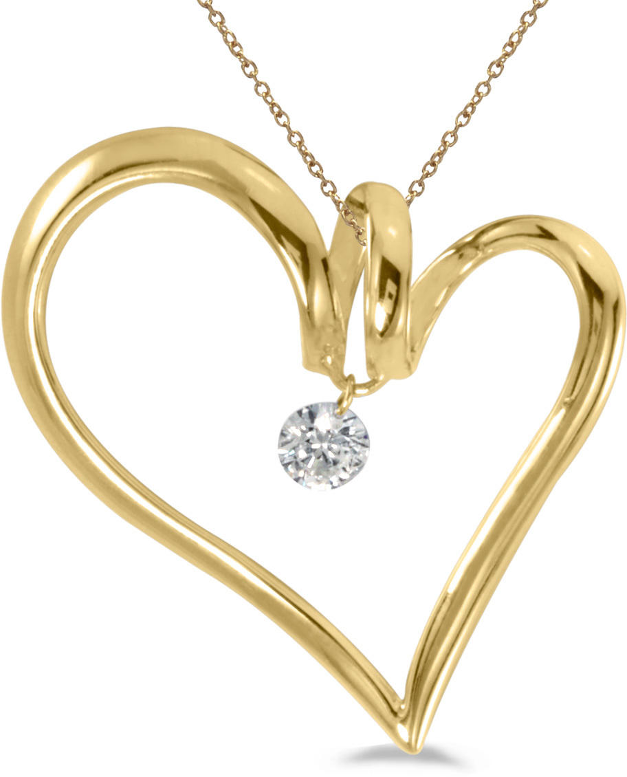 14K Yellow Gold Diamond Dashing Diamonds Pendant (Chain NOT included) (CM-P8846)