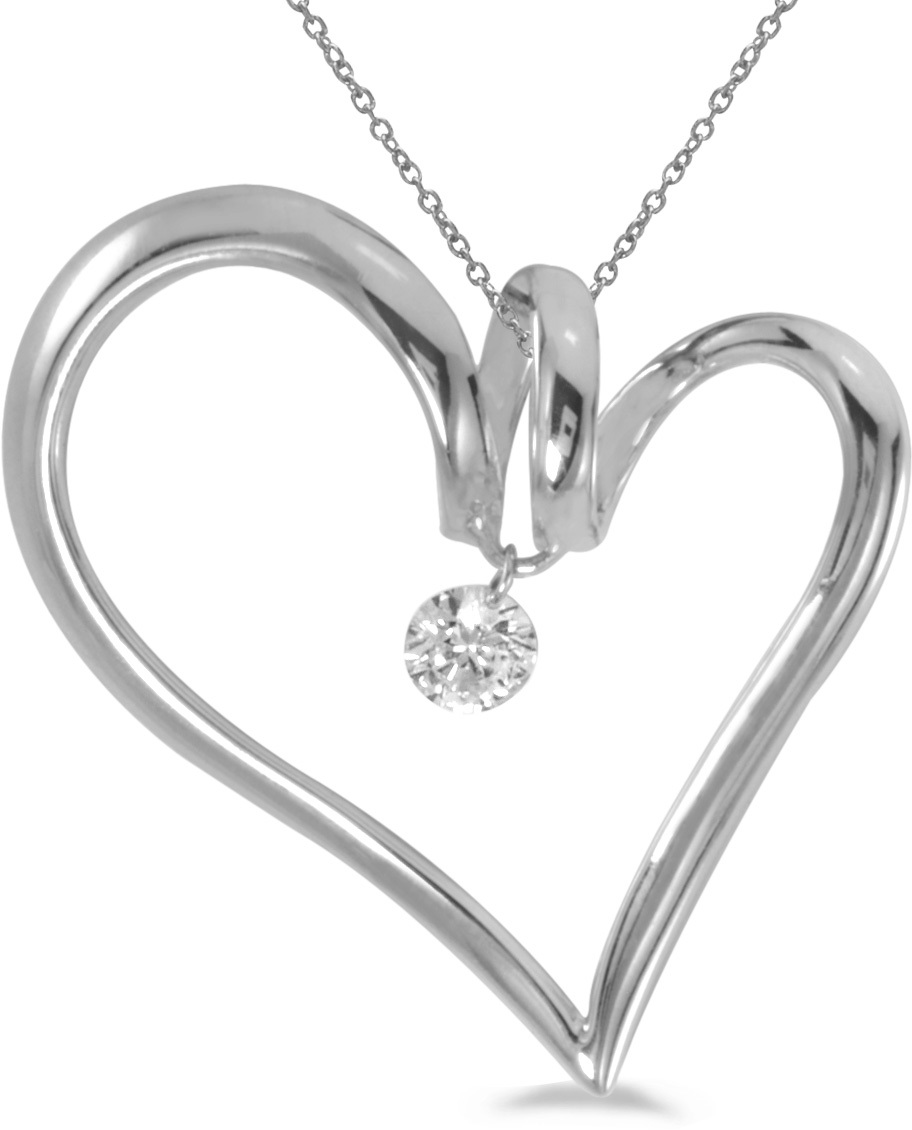 14K White Gold Diamond Dashing Diamonds Pendant (Chain NOT included) (CM-P8846W)