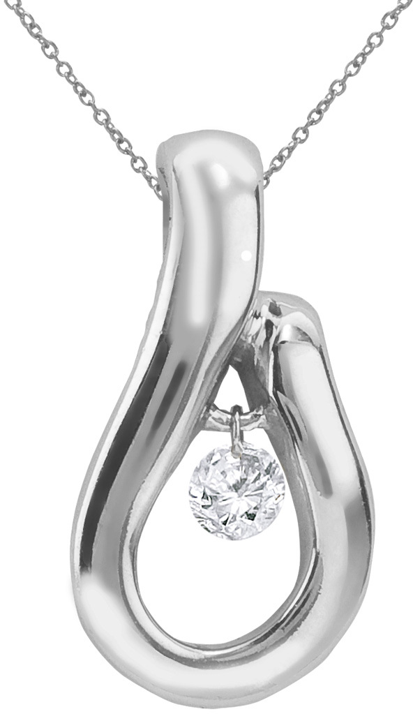 14K White Gold Diamond Dashing Diamonds Pendant (Chain NOT included) (CM-P8899W)