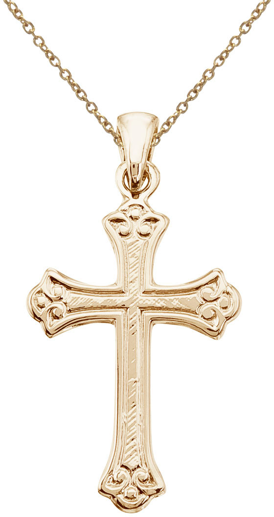 14K Yellow Gold Small Celtic Cross Pendant (Chain NOT included)