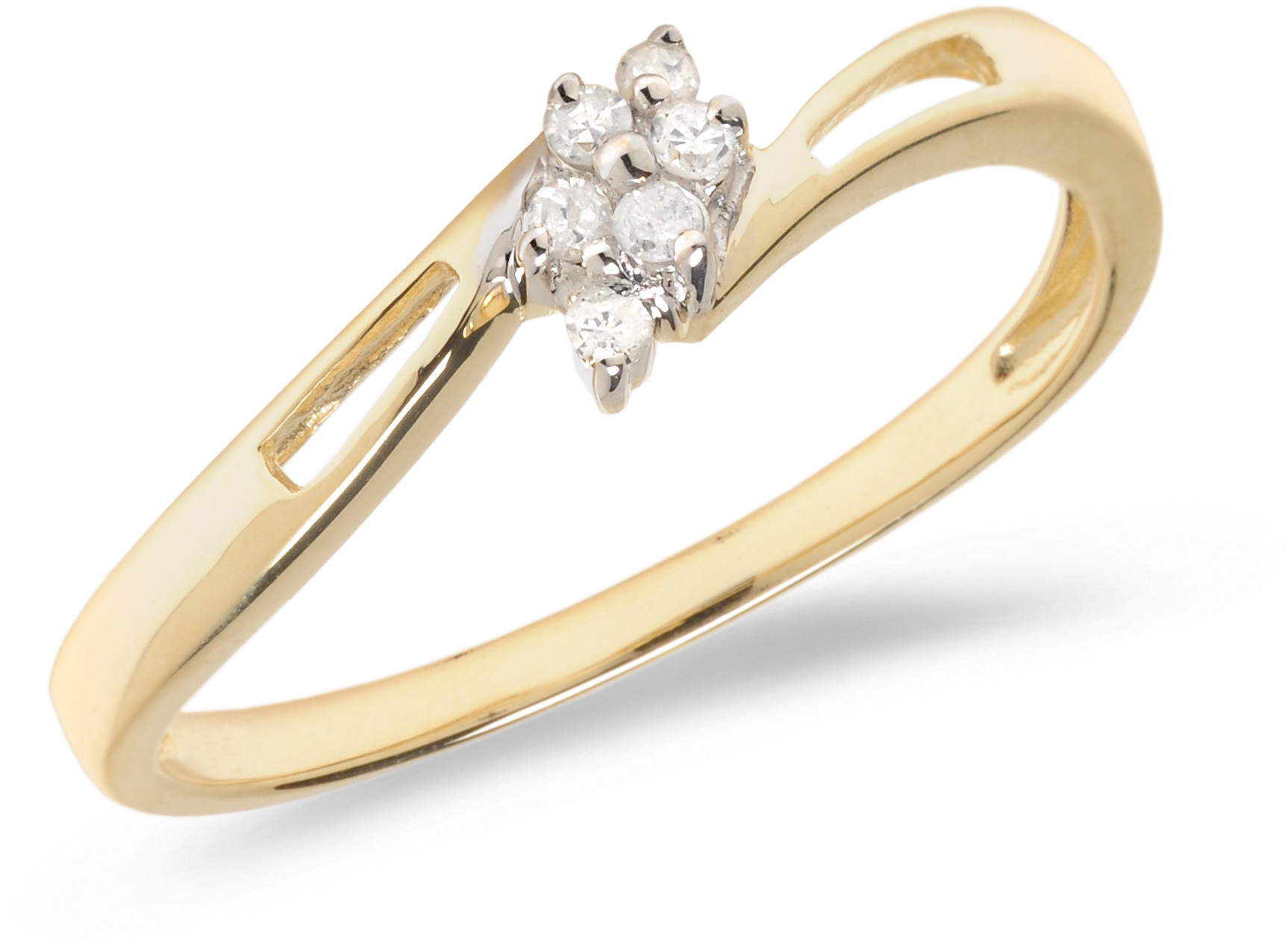 10K Yellow Gold Diamond Cluster Ring (CM-RM1144)