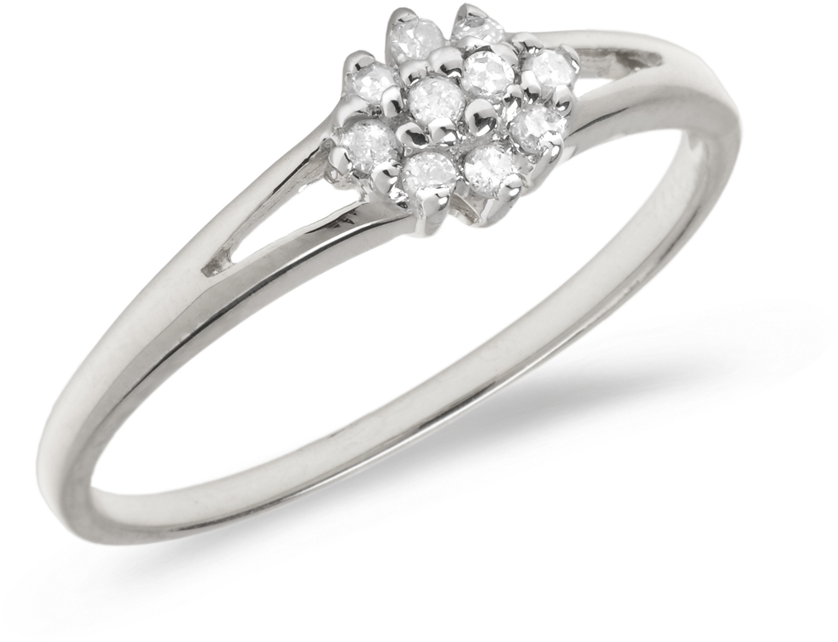 14K White Gold Diamond Cluster Ring (CM-RM1145XW)