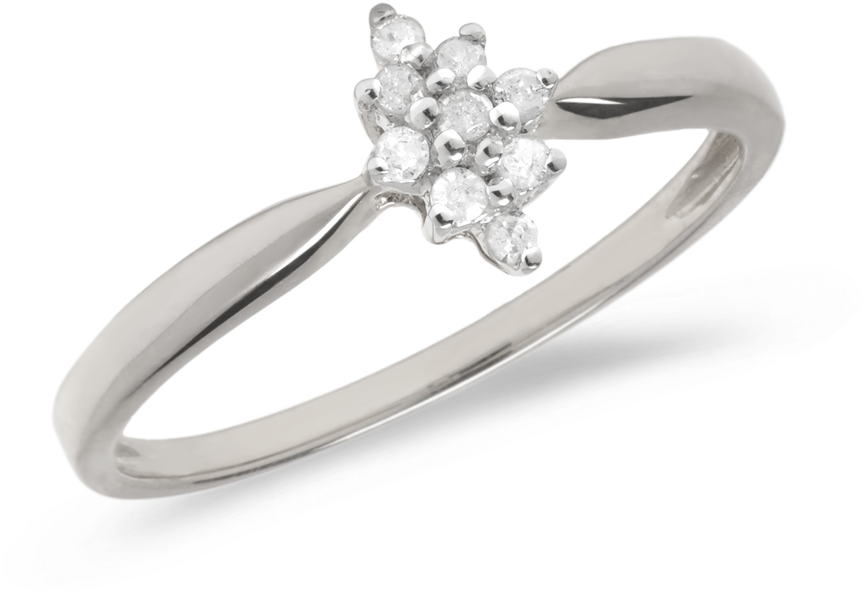 10K White Gold Diamond Cluster Ring (CM-RM1146W)