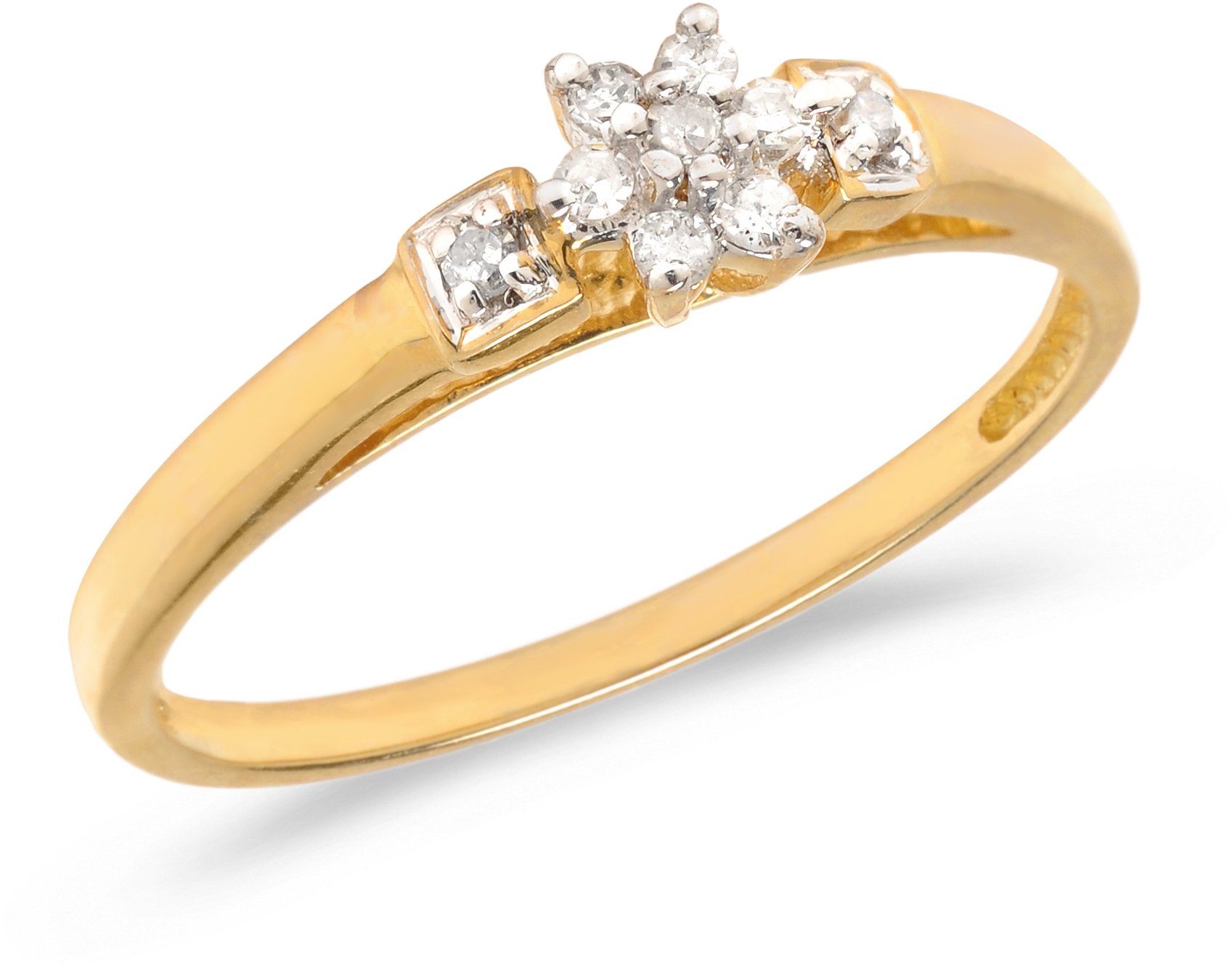 10K Yellow Gold Diamond Cluster Ring (CM-RM1317)