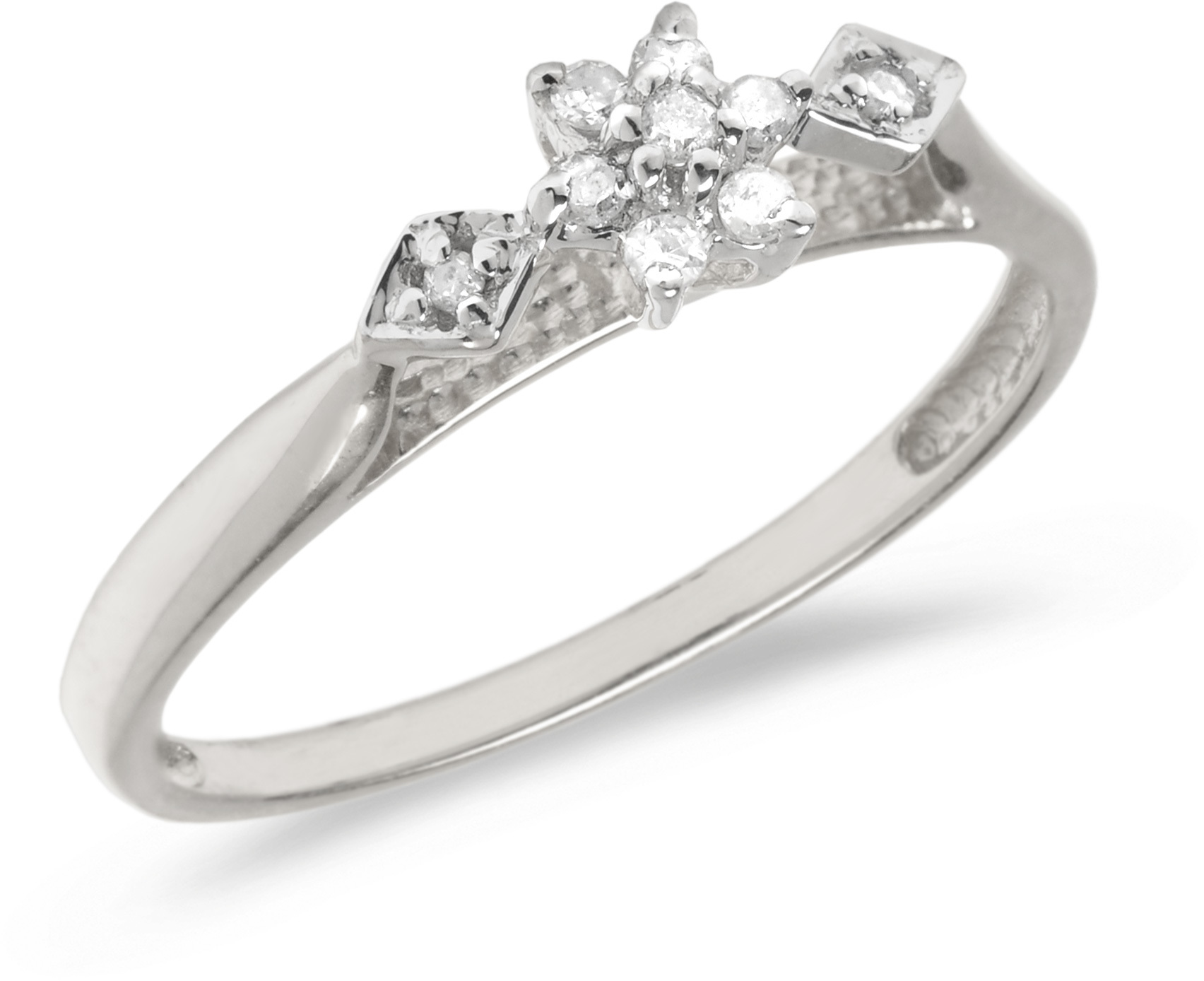 14K White Gold Diamond Cluster Ring (CM-RM1318XW)
