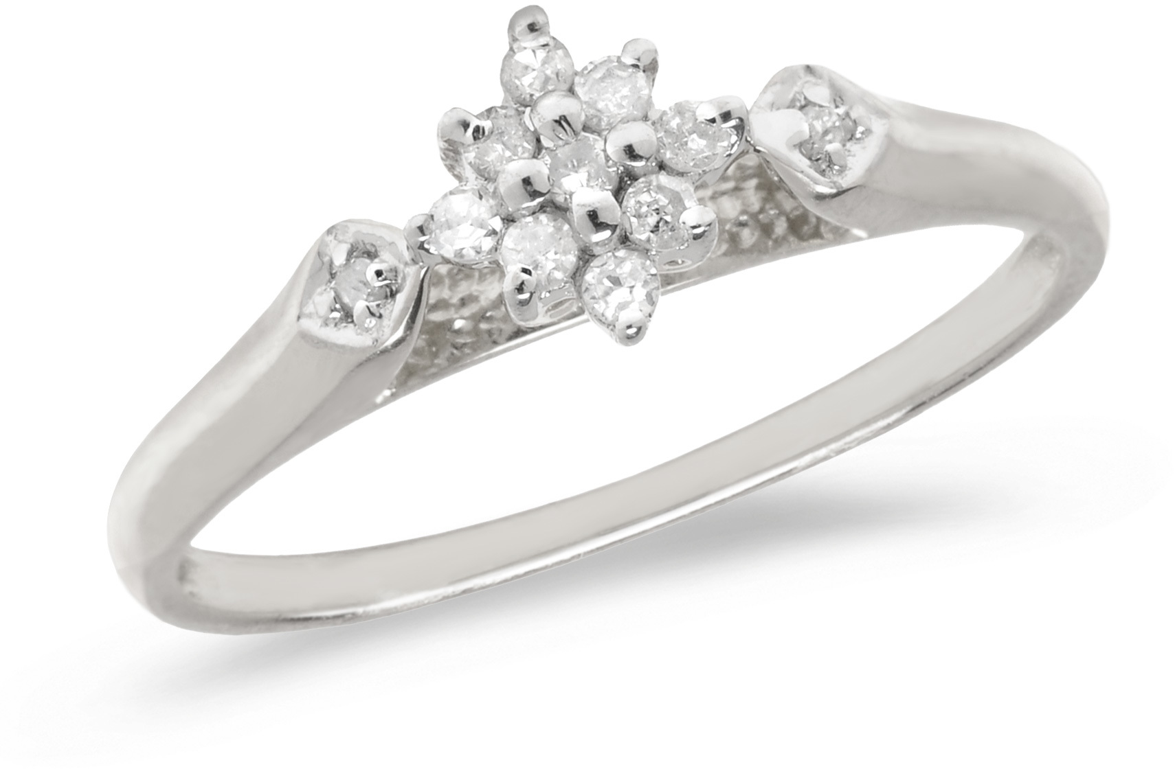 14K White Gold Diamond Cluster Ring (CM-RM1320XW)