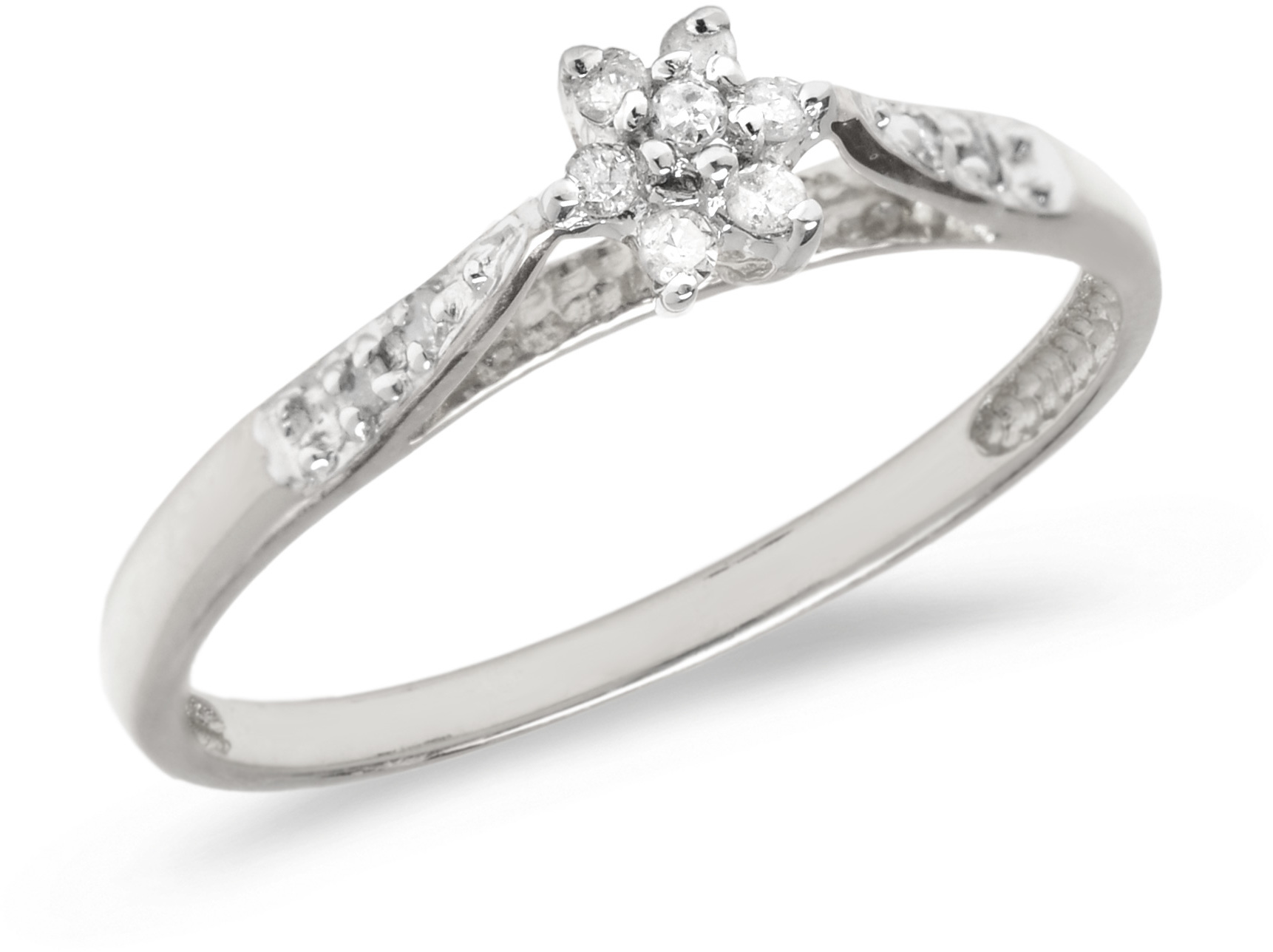 14K White Gold Diamond Cluster Ring (CM-RM1321XW)