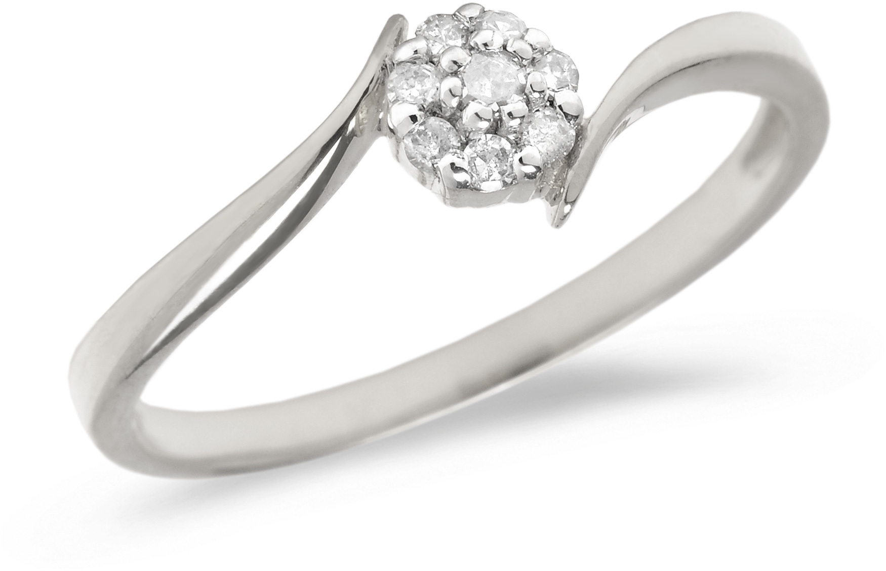 10K White Gold Diamond Cluster Ring (CM-RM1407W)
