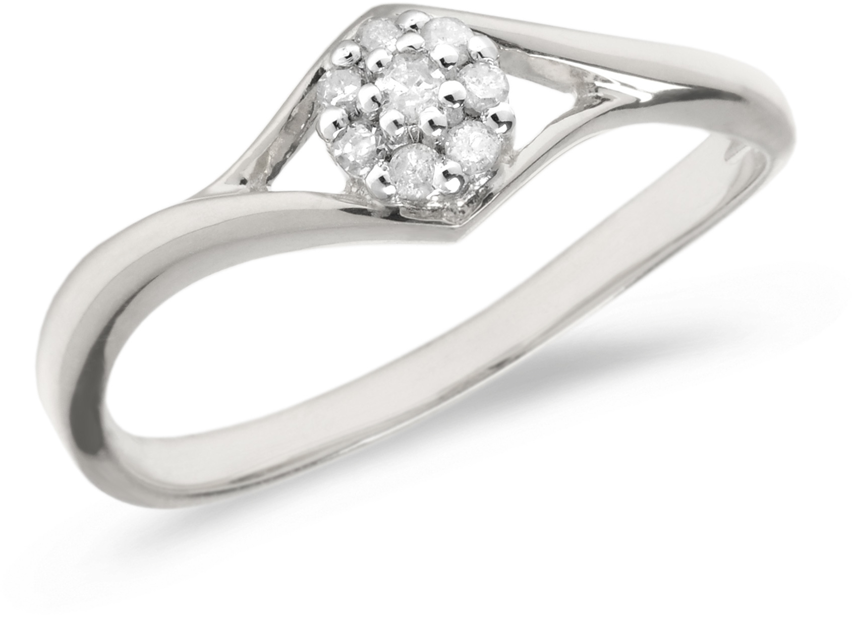 14K White Gold Diamond Cluster Ring (CM-RM1408XW)