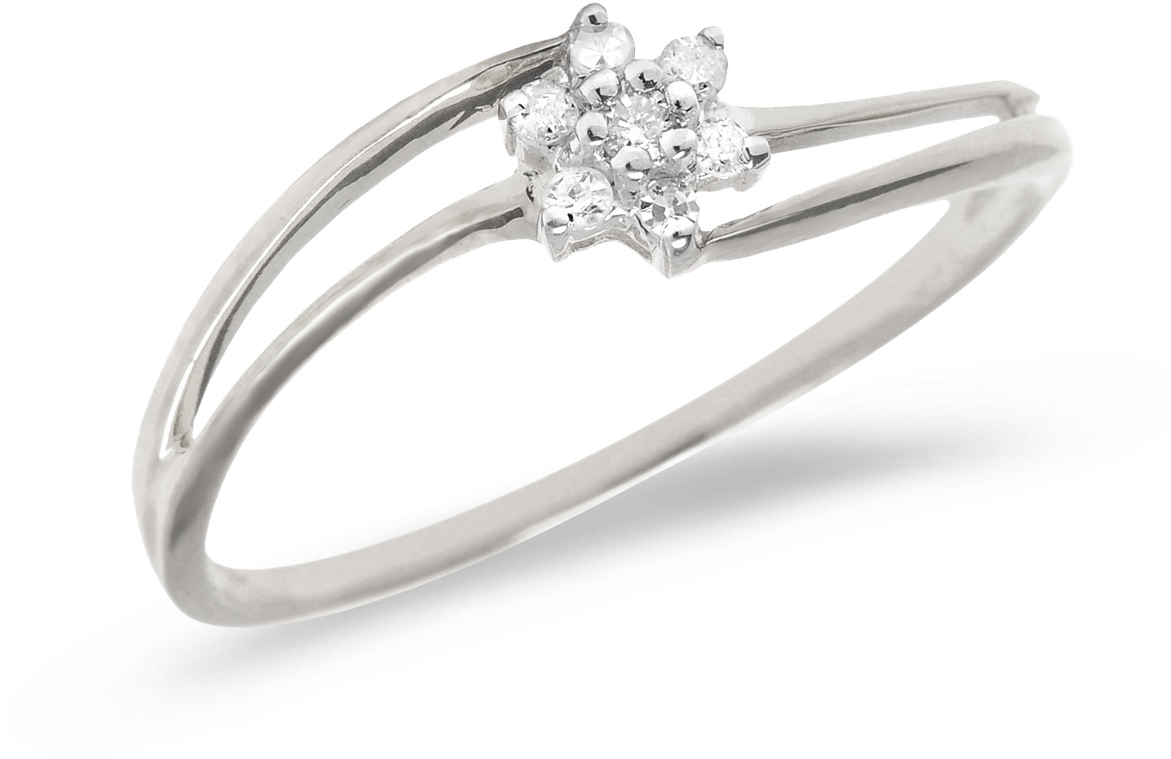 10K White Gold Diamond Cluster Ring (CM-RM1409W)