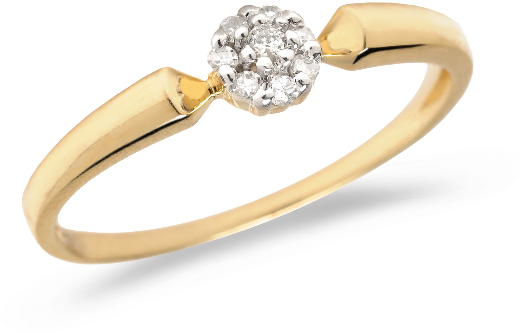 10K Yellow Gold Diamond Cluster Ring (CM-RM1410)