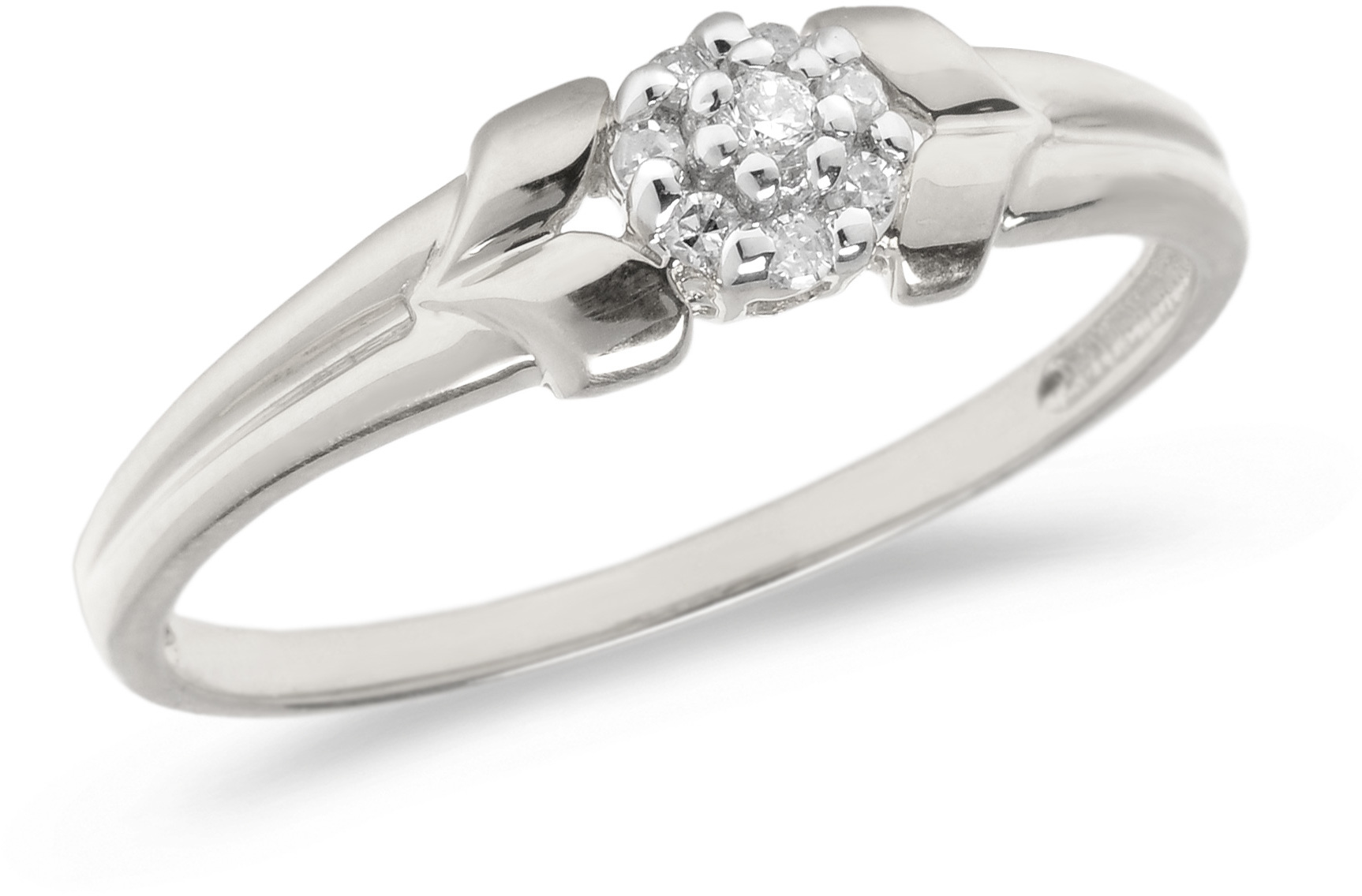 10K White Gold Diamond Cluster Ring (CM-RM1412W)