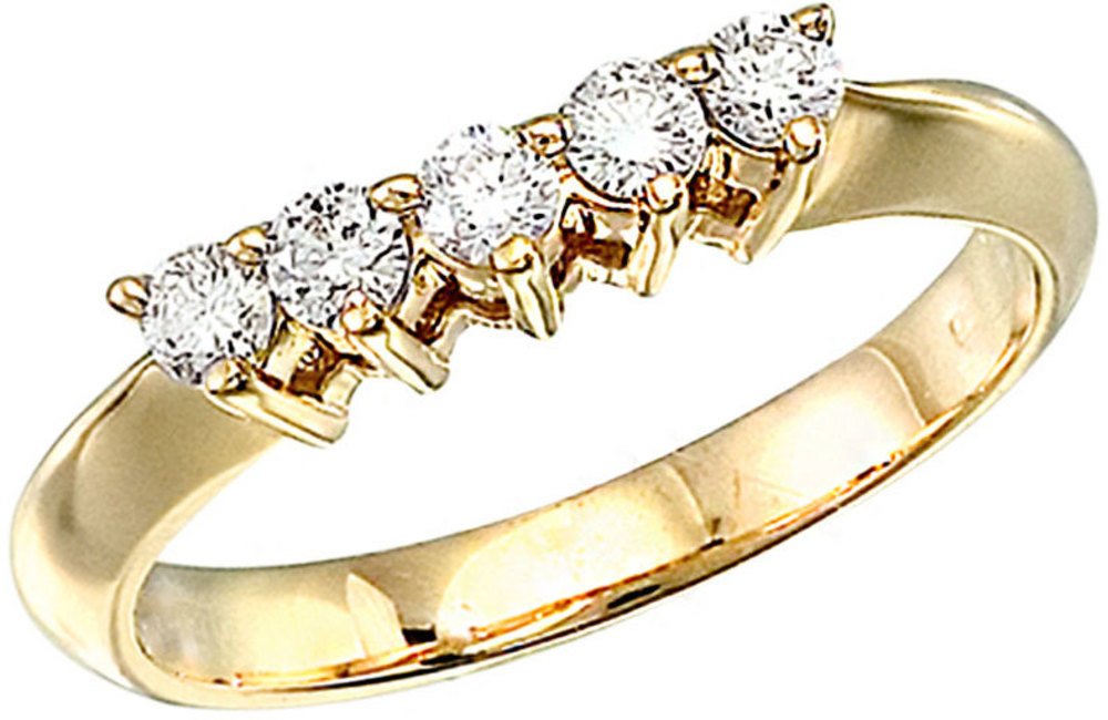 14k Yellow Gold 0.33 Ct Diamond Wrap Band (CM-RM7327)