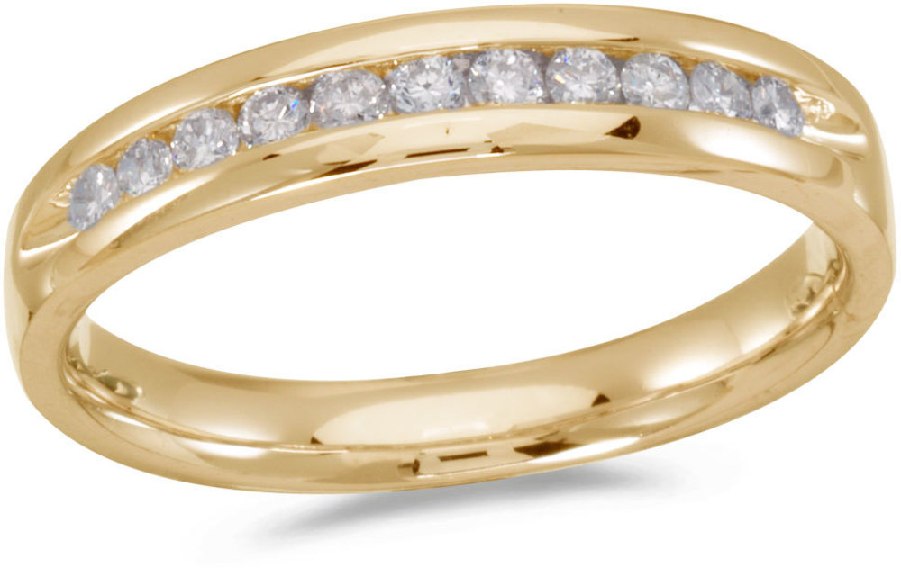 14K Yellow Gold Diamond Diamond Band Ring (CM-RM8800)