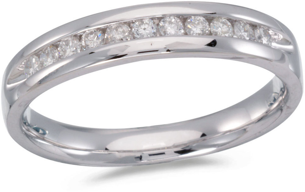 14K White Gold Diamond Diamond Band Ring (CM-RM8800W)