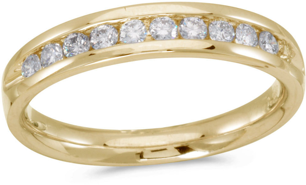 14K Yellow Gold Diamond Diamond Band Ring (CM-RM8801)