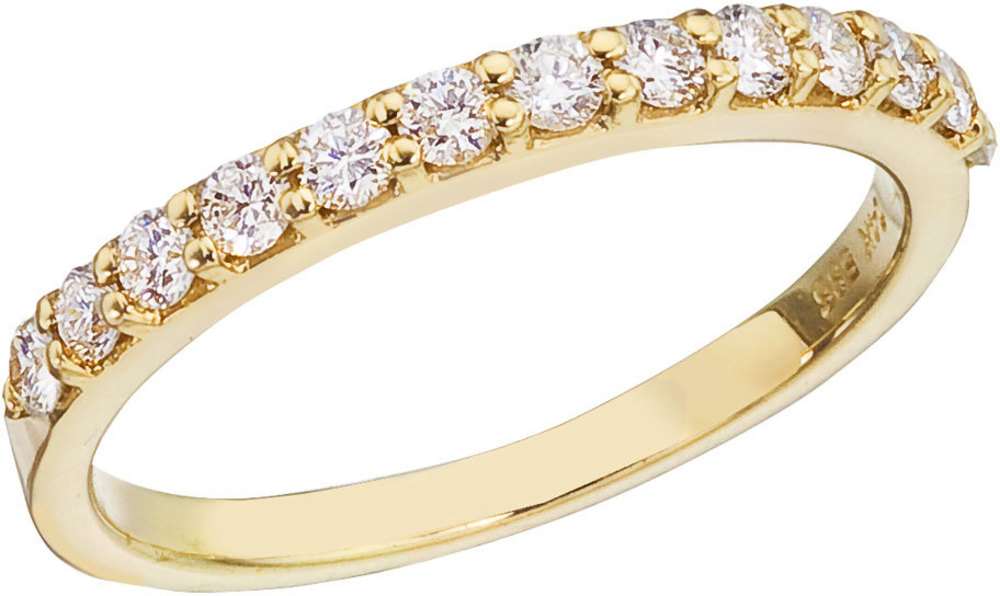 14K Yellow Gold Diamond Diamond Band Ring (CM-RM8975)