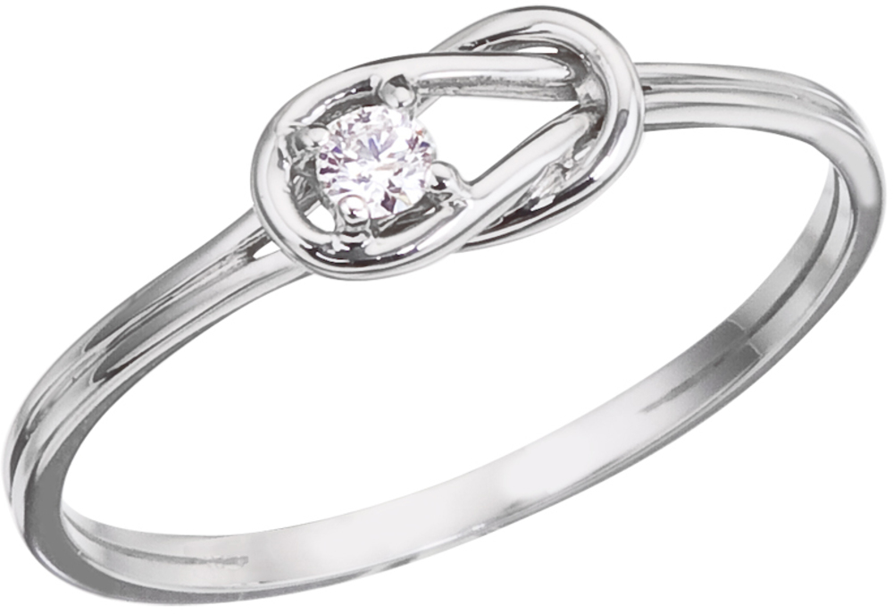 14K White Gold Boaters Knot Diamond Ring (CM-RM9029W)