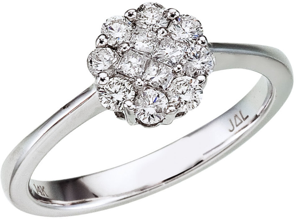 14K White Gold Diamond Clustaire Ring (CM-RM9089W)