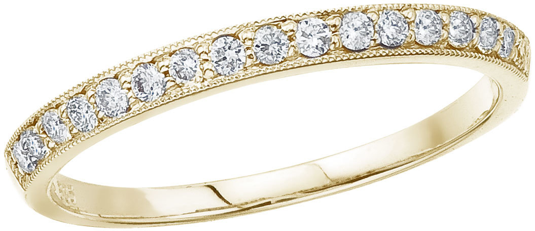 14K Yellow Gold Prong Set Diamond Band Ring (CM-RM9144)