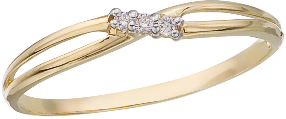 14K Yellow Gold and Diamond Bypass Promise Ring (CM-RM9150X)