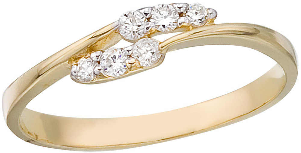 14K Yellow Gold and Diamond Promise Ring (CM-RM9151X)