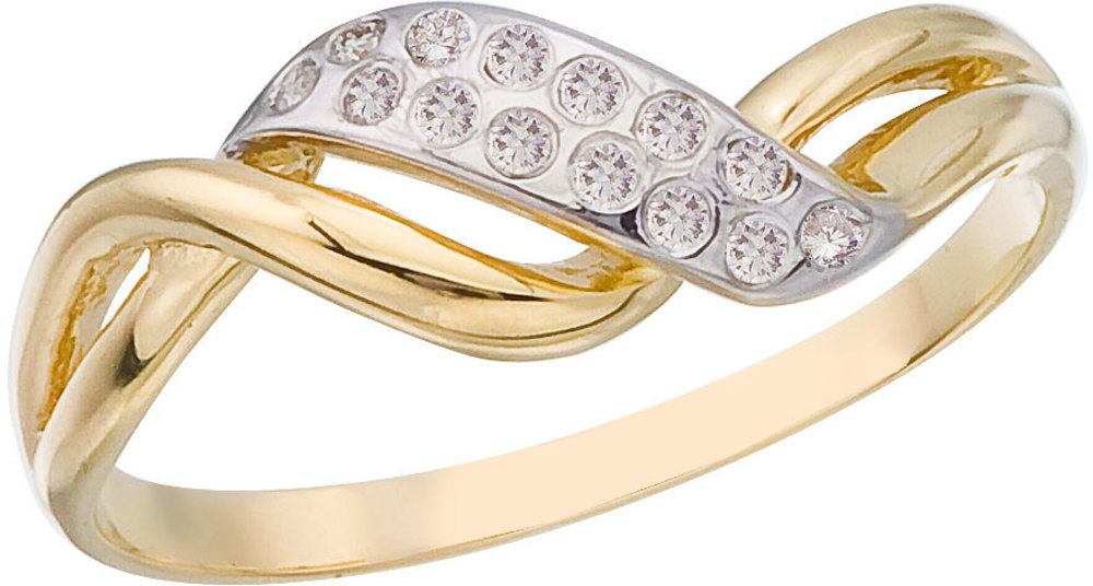 14K Yellow Gold and Diamond Promise Ring (CM-RM9158X)