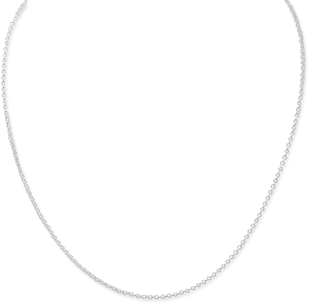 "13""+1""Extension Small Rolo Chain Necklace 925 Sterling Silver"