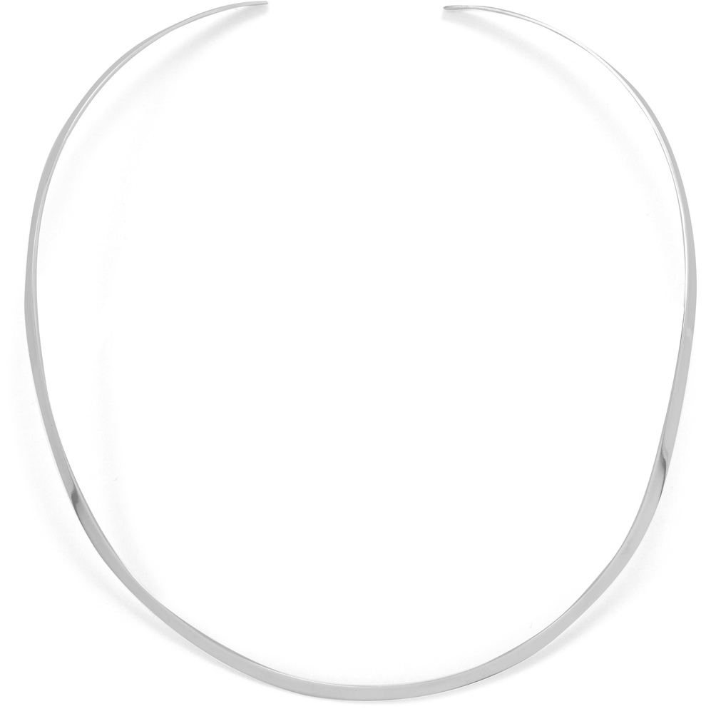 "3mm (1/8"") Polished Open Back Collar 925 Sterling Silver"