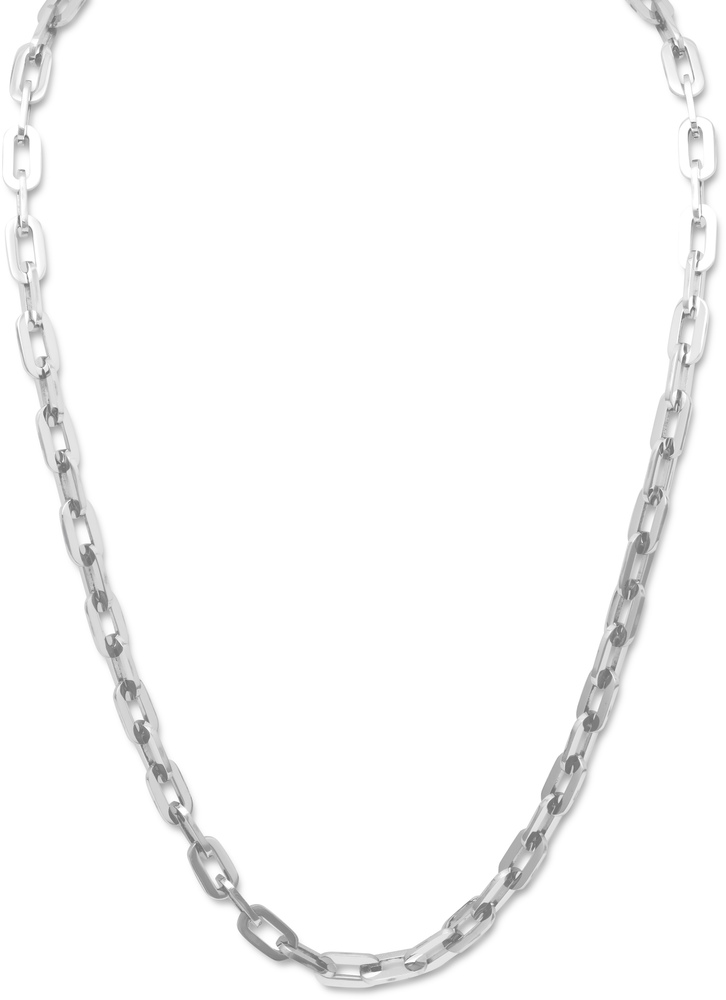 "22"" 316L Stainless Steel Oval Link Necklace"