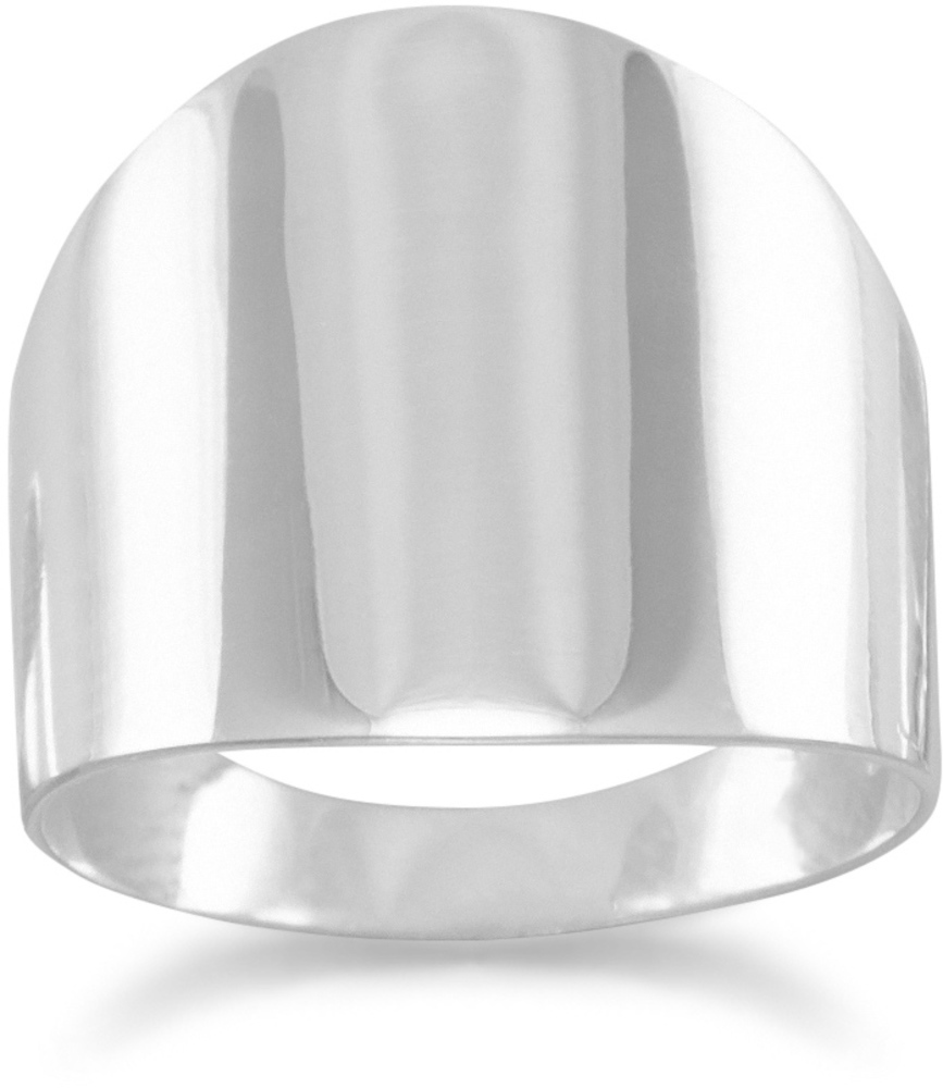 Plain Flat Cigar Band  Ring 925 Sterling Silver